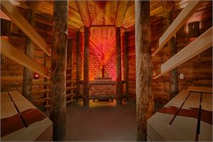 Salzstollen-Sauna im Außenbereich