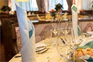 Das ausgezeichnete Restaurant des Hotel Hubertushof in Anif bei Salzburg