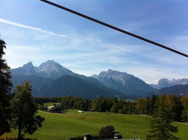 Great view while driving with the Obersalzbergbahn mountain railway